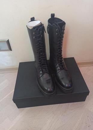Кожаные ботинки массимо дутти