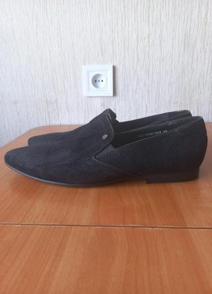 Натуральная кожа замшевые туфли мокасины