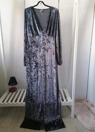 Велюровые платье asos. р. 18. made in albania. 🍁