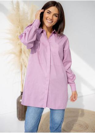 Стильная рубашка с карманами, 100% хлопок, 5 цветов на выбор -  заходи)