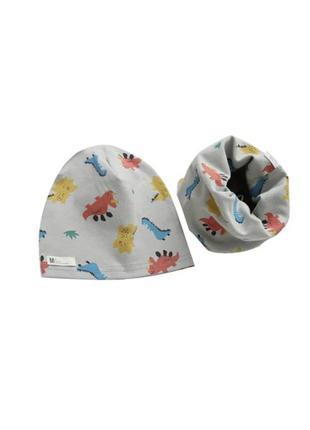 Детская шапочка и хомут в наборе