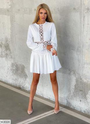 Белое платье кружево