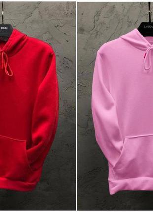 Парные худи dekka baza цвет красный и розовый