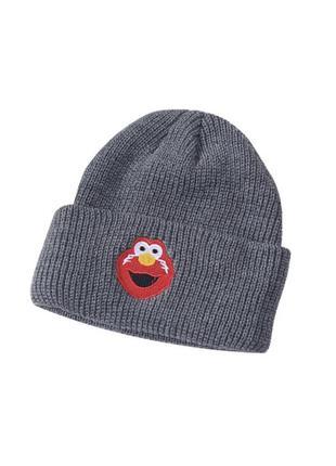 Детская тёплая шапка с элмо