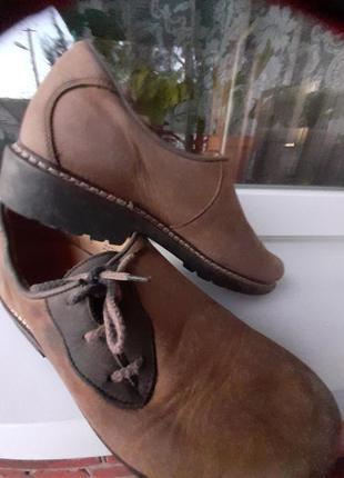 Туфли  кожанные  нубук 37размер