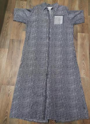 Турция высокого качества, платье -рубашка бодьшого размера