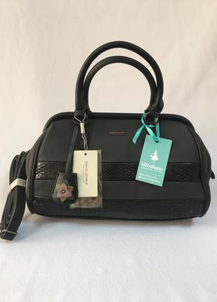Чёрная сумка-саквояж david jones
