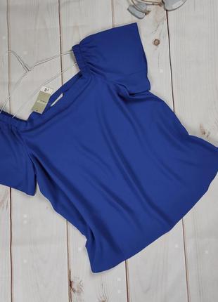 Блуза новая модная насыщенно синего цвета uk 14/42/l