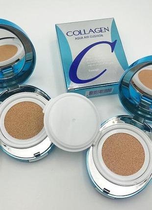 Enough collagen aqua air cushion увлажняющий кушон на основе коллагена