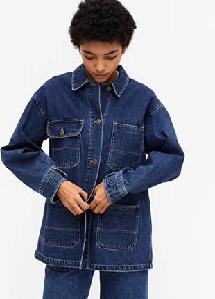 Джинсовый жакет куртка monki