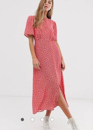 Шикарное длинное платье в цветочный принт