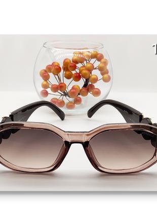 Женские очки стильные  линза коричневая с коричневой дужкой