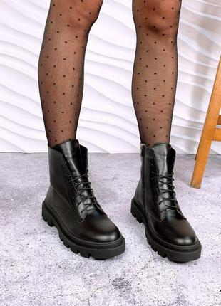 Женские ботинки, ботинки кожа, кожаные ботинки, ботинки деми, 13587
