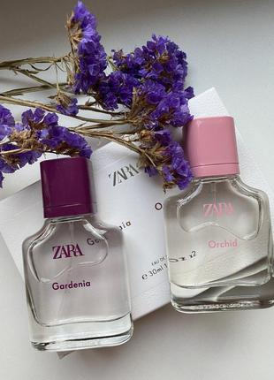 🌿 zara в наборі orchid/gardenia 🌿 у наборі 2шт по 30мл парфуми ! не туалетна вода