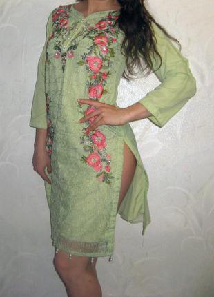 Изумительное красивое платье в восточном стиле с вышивкой maryam&mariya's by mazi exclusive ltd