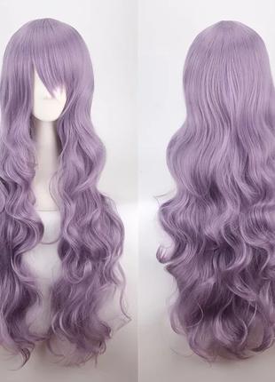 Парик лиловый, фиолетовый, густой, длинный, для фотосессии, косплей, костюм, аниме, хэллоуин