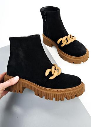 Ботинки, женские ботинки, ботинки замшевые, ботинки деми, 26498