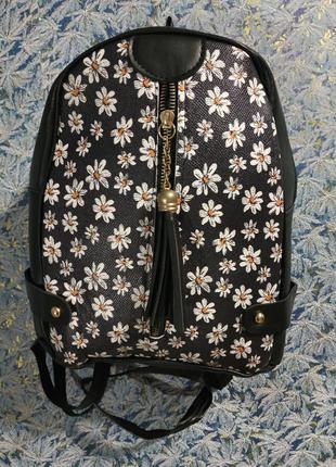 Городской рюкзак с цветочным принтом небольшой размер