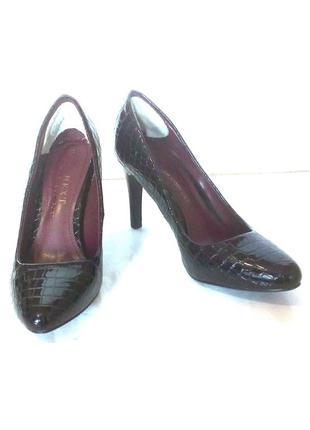 Стильные лаковые туфли лодочки на шпильке от бренда next, р.36 код t3620