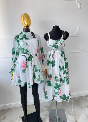 Шикарное женское платье в стиле dolce&gabbana