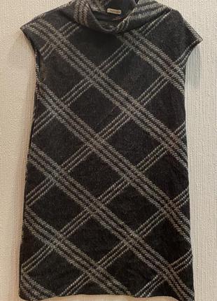 Платье шерстяное клетчатое
