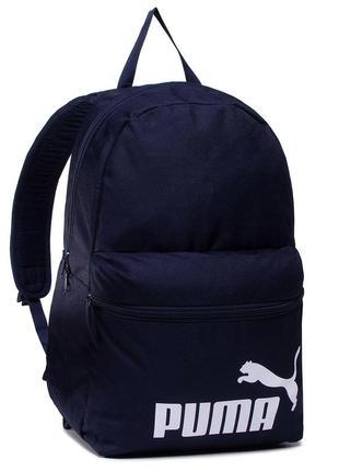 Рюкзак puma phase оригінал наплічник синій унісекс 075487 43