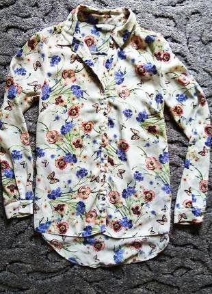 Красивая шифоновая блуза-рубашка