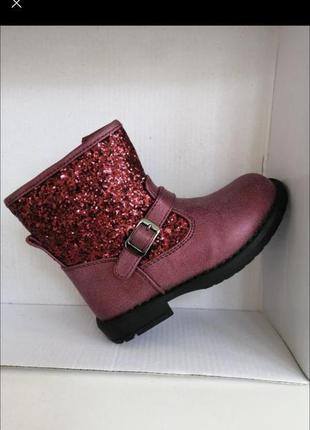 Деми ботинки на молнии пайетки