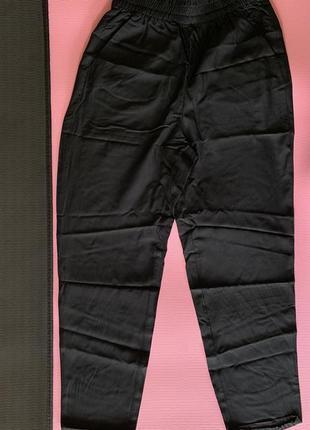 Чорні жіночі штани, легкі літні штани, трендовые летние брюки, широкие легкие штаны.