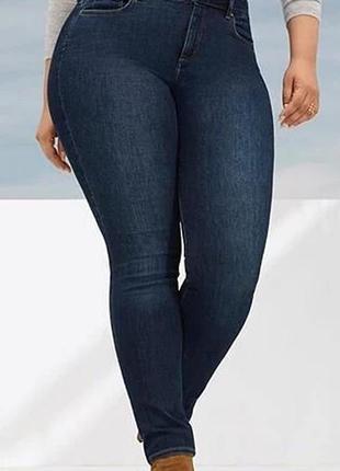 Мегаклассные стрейчевые джинсы скини на пышные формы  m&co...