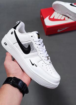 Лучшая цена! женские кроссовки nike air force 1 utility white/black