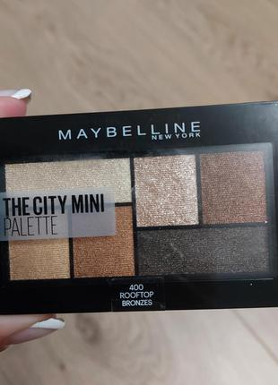 Палетка теней maybelline new york bronzes