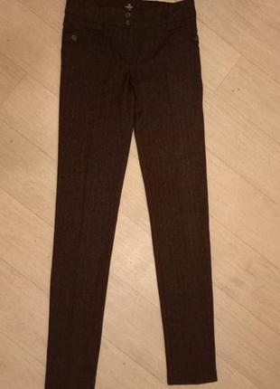 Шокльные офисные штаны брюки теплые