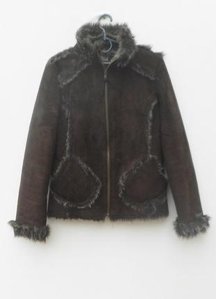 Новая коричневая искусственная меховая дубленка меховая куртка