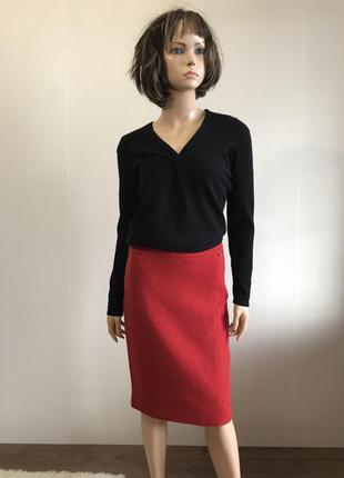 "Шикарная ярко красная юбка от ""bogner"""