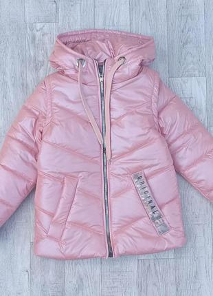 Деми куртка жилет для девочки жемчуг 34–42