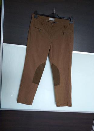Актуальные плотные штаны,брюки с леей в мелкую гусиную лапку brax