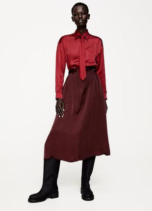 Комбинированное платье limited edition от zara