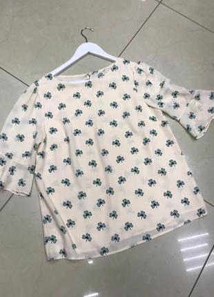 🆘🔥последняя цена до 30 сентября 🆘🔥  милая блуза с принтом и короткими рукавами новая