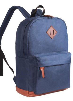 Стильный тканевый рюкзак с уплотненным дном для школы
