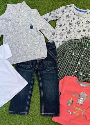 Одежда для мальчика 1,5-2 года цена за все