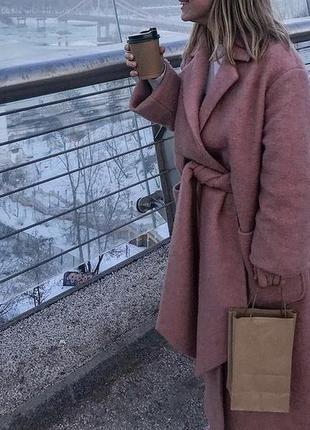 Шерстяное пальто lost ink