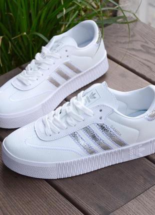Женские кроссовки, кроссовки белые, кожаные кроссовки  ,1063