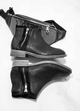 Ботинки кожа, ботинки в стиле zara