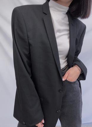 Структурований чорний піджак