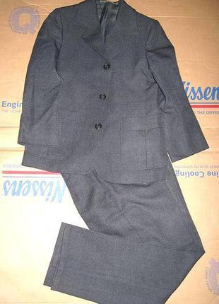 Костюм: пиджак и брюки для мальчика школьника на 7-9 лет школы в школу школа