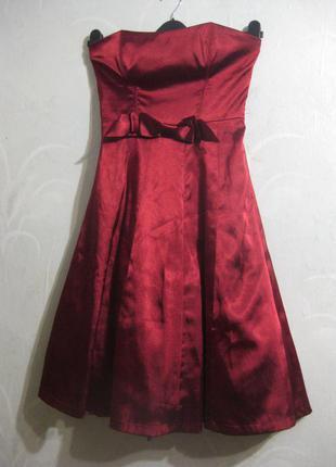 Красивое милое бордовое вечернее платье бюстье lissa paris корсетное нарядное