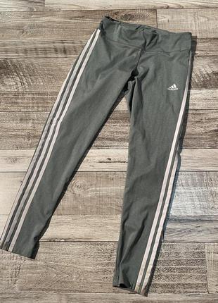 Спортивные лосины леггинсы капри adidas