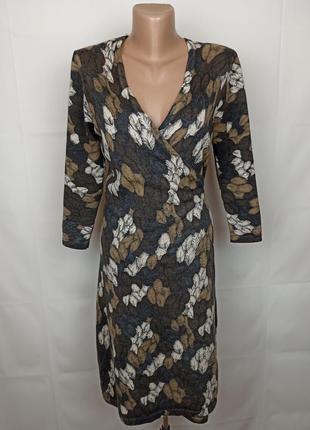 Платье кофта шерстяное оригинальное на запах 100% шерсть hobbs uk 12/40/m