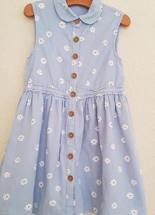 Котонове плаття george васильково-голубе на дівчинку 6-7р 116-122см